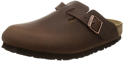 Birkenstock Boston 860133, Zoccoli unisex adulto, Marrone (Habana), EU 42 (stretta)