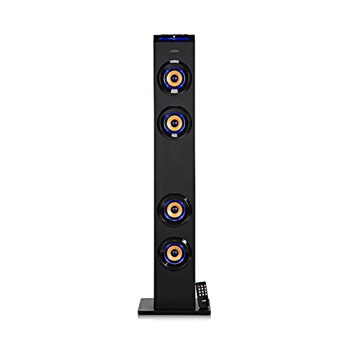 Earson Er-2553 Home Audio Docking System Floor-Standing 4-Way Tower Speaker Stereo Loudspeaker With Bluetooth Wireless Technology And Remote Control/ Er-2553 Signal Lines For Ipod/Shuffle Iphone Ipad, Digital Fm Radio,Pc, Laptop,Mp3,Psp,Tv,Dvd/Vcd,Digital