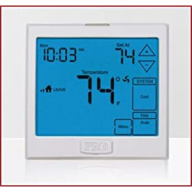 Pro1IAQ T925 3H/2C Heat Pump Touchscreen Thermostat