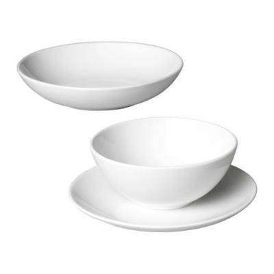 ★フェールグリック / FARGRIK 食器18点セット / ホワイト[イケア]IKEA(00151150)