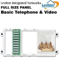 Leviton Basic Telephone and Video Panel, 2GHz