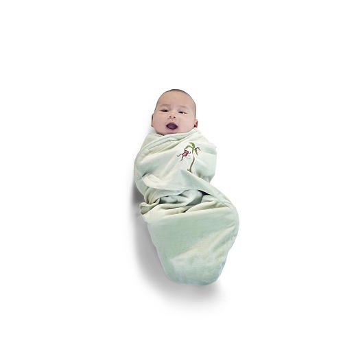 Journey Deluxe Embroidered Swaddle Wrap - Velour Lined - 1
