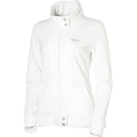 Roxy Short Track Fleece Jacket - Women's White, M