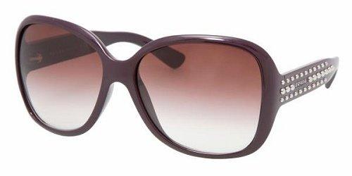 Prada Women's 04m Studs Violet Frame/Violet Gradient Lens Plastic Sunglasses