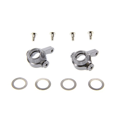 GPM Racing Steering Block Set for 1:18 Associated 18B2 + Other AE Models, Grey - 1