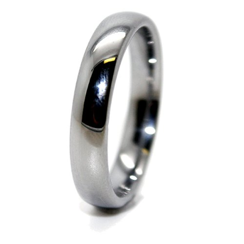 Blue Chip Unlimited - Unisex 4mm Domed Polished Classic Tungsten Ring Wedding Band Designer Fashion Engagement Ring Size Z+1