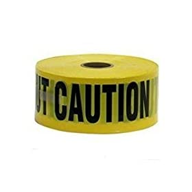 Caution Tape - 16000 3In. X1000ft. Caution Tape