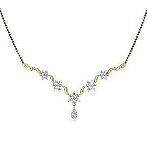 Certified 18K Yellow Gold 1.26 cttw White-Diamond (FG | VS) mangalsutra
