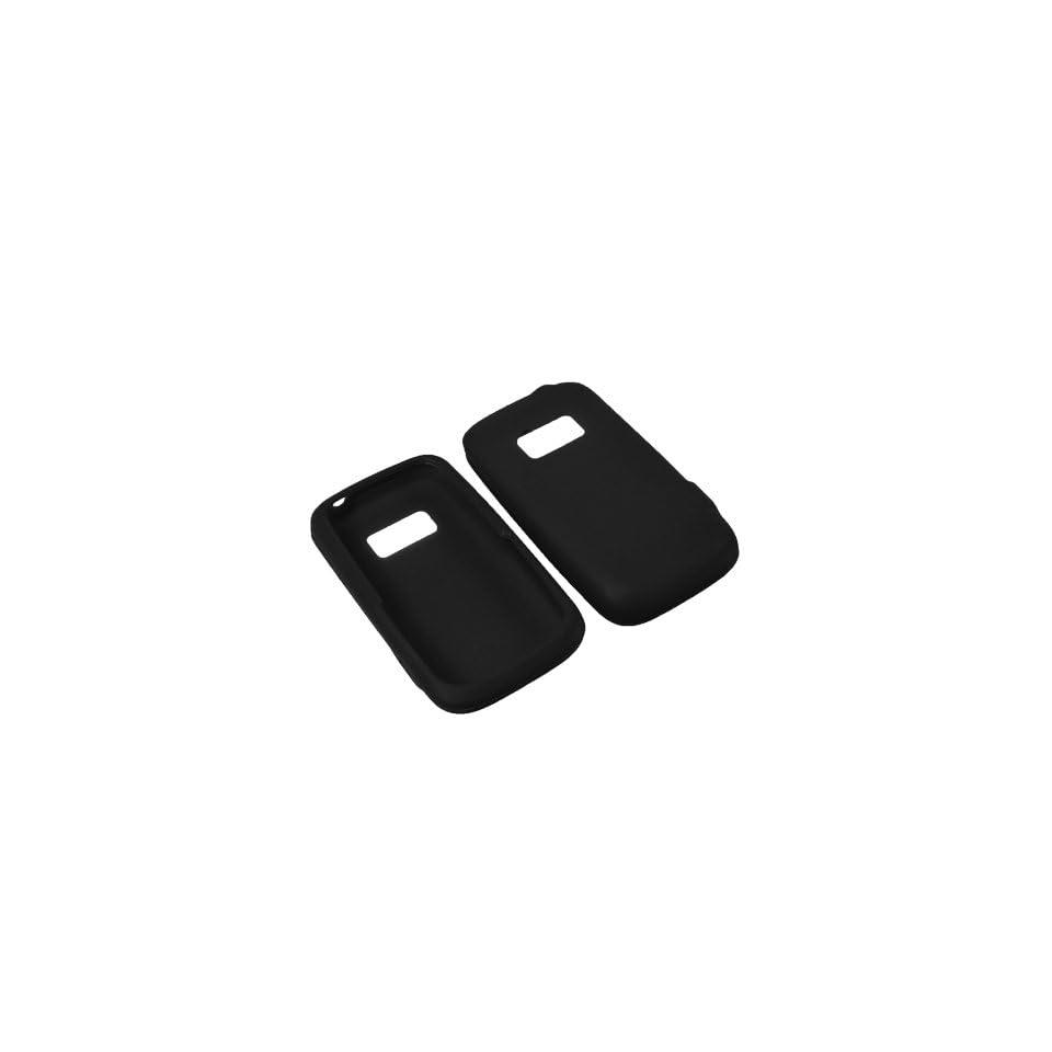AM Soft Sleeve Gel Cover Skin Case for Sprint Kyocera Brio S3015  Black