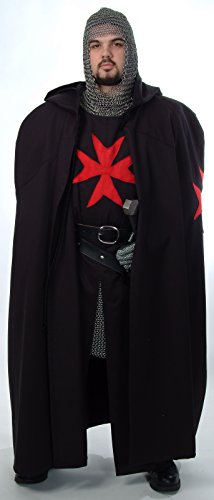 Knight Medieval Crusader Knight Tunic & Cape