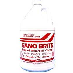 Mission Kleensweep Sano Brite Bathroom Cleaner - Gallons 4/case