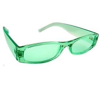 GREEN LENS RECTANGULAR SHAPE GLASSES MODERN STYLE (Lime & Lime)