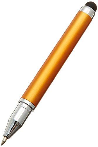 【 2way タッチペン 】 静電容量式タッチパネル(iPhone / iPad)対応 ボールペン(黒)付 ストラップ付 タッチペン TP-01D(オレンジ)