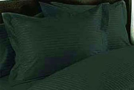 300Tc Egyptian Cotton Pillowcase Pair (2) King Hunter Stripe By Marrikas front-841945