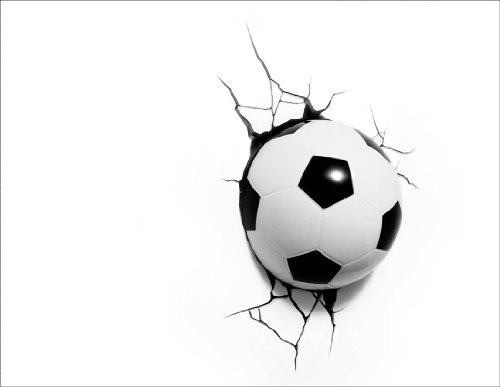 3D Light FX, Lampada da parete a LED a forma di pallone da calcio, Multicolore (weiß / schwarz)