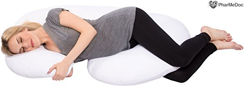 PharMeDoc-Total-Body-Pillow-The-Worlds-MOST-Comfortable-Maternity-Pregnancy-Pillow-Snug-Cushion-With-Zipper-Full-Contoured-Body-Support-System-Side-Sleeper-Pillow-Nursing-Snuggle-Pillow