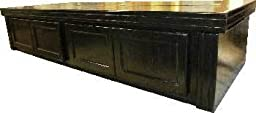 R&J Enterprises ARJ40501 Xtreme Series Oak Wood Aquarium Canopy, 72 by 24-Inch, Black