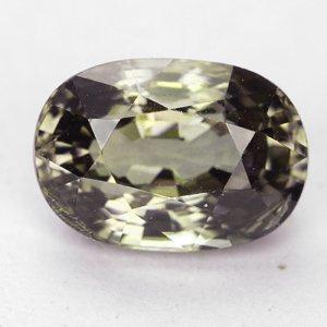 Gems Royal 1.23 Ct. Best Green Natural Demantoid Garnet Gem : 6.58 x 5.47 x 3.83 mm.