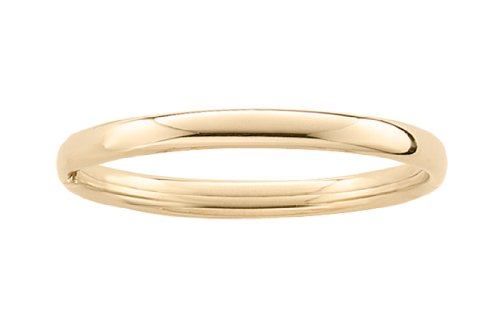 14k Yellow Gold Filled Children's Polished Guard and Hinge Bangle Bracelet