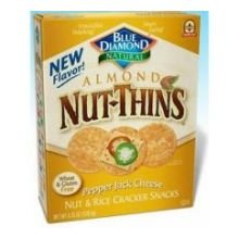 Blue Diamond Growers Nut Thins Pepper Jack Cheese Nut And Rice Cracker, 4.25 Ounce -- 12 Per Case.