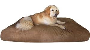 Overstuffed XXXLarge Jumbo Orthopedic Memory Mix Foam Pet Dog Bed Waterproof Pillow with Washable Microsuede Cover