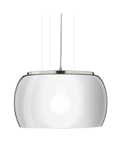 Trend Lighting Oculus Glass Pendant, Chrome/Black Pearl