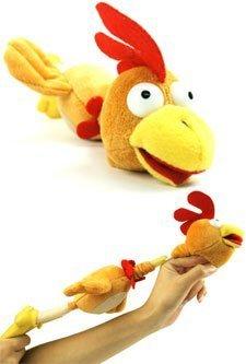 1dz (12pc) Slingshot Flying Chicken Toy w/ Sound Flingshot by Playmaker Toys