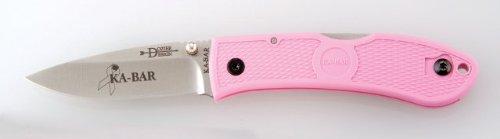 Ka-Bar Dozier Folding Hunter Knife - Pink