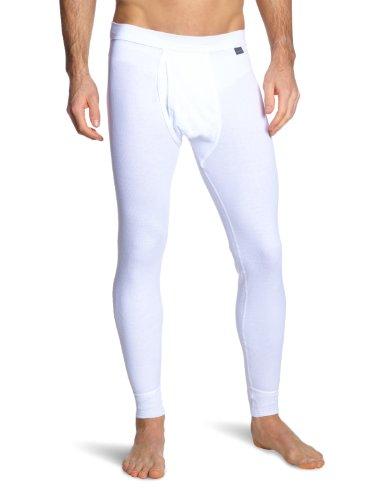 Schiesser Herren Lange Unterhose 205179-100, Gr. 6 (L), Weiß (100-weiss)