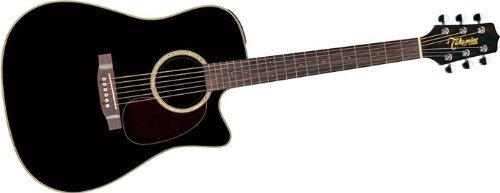 Takamine G Series EG531SC Dreadnought Acoustic Electric Guitar, Black