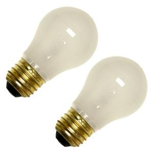 Bulbrite 15A15F/12 15-Watt A15 Frost 12 Volt Incandescent Bulbs, 2-Pack