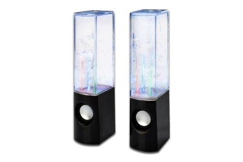 Digitus DA-10239 Color Splash Lautsprecher für PC/Tablet (3,5mm Klinkenstecker, 3 Watt) schwarz