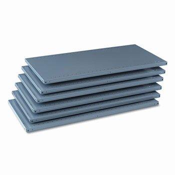 Tennsco Industrial Steel Shelving for 87 High Posts 48wx24d Medium Gray 6 carton