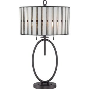Epic Compare Prices Quoizel Lighting TFLMWT Lamelle Two Light Table Lamp Western Bronze Finish