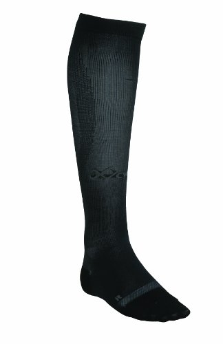 CW-X CW-X Unisex Adult Ventilator Compression Support Socks (Black, Medium)