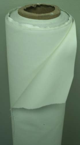 Roc-Lon® Double-Sided Blackout Drapery Lining Fabric By Yard Ivory/White(Ecru)