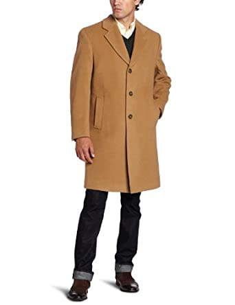 Michael Kors Men's Madison Top Coat, Camel, 40 Short