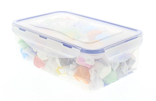 Salt Water Taffy 1 lb Bulk in an EasyLock container that is airtight, watertight, and stackable (Blue Salt Water Taffy 1lb compare prices)