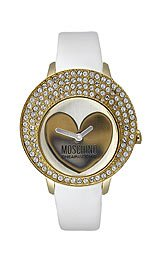 Moschino Cheap and Chic Women's White Patent Leather Strap Watch