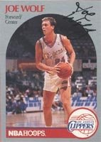 Joe Wolf Los Angeles Clippers 1990 Hoops Autographed Hand Signed Trading Card. by Hall of Fame Memorabilia
