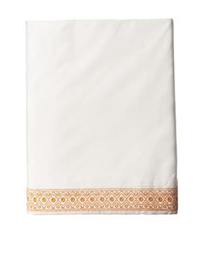 Coyuchi Henna 300TC Percale Flat Sheet