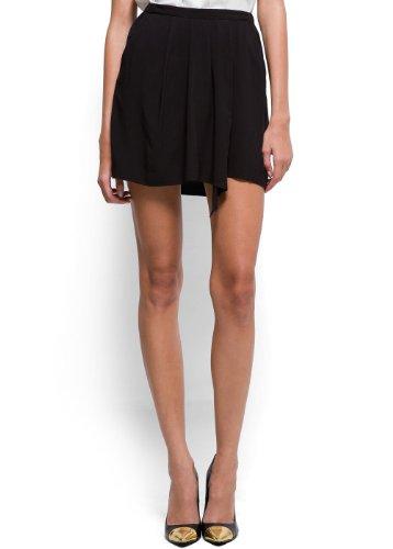 Mango Women's Asymmetric Pleat Miniskirt