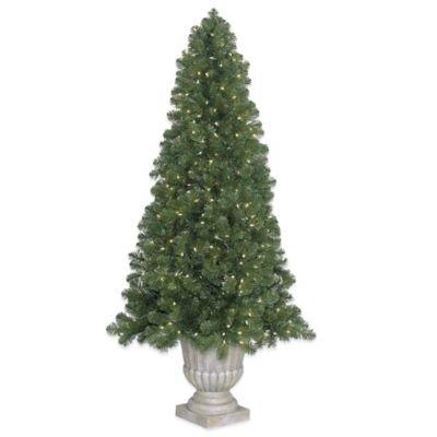 Bethlehem Lights 7.5-Foot Medium Olympia Pine LED Lighted Potted Christmas Tree