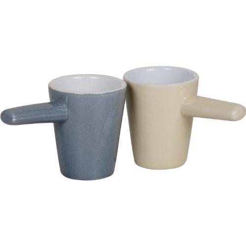 Tavola swiss 5048725 scanpart lot de 2 tasses à expresso-gris/beige