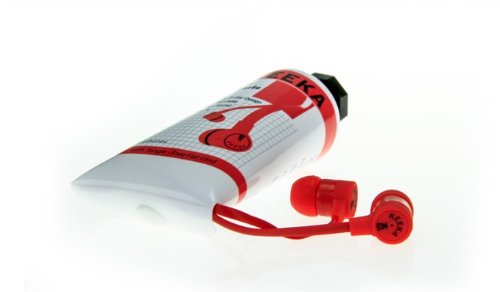 "Keeka ""Toothpaste"" Color Stereo Headphones - Red (Ka-06-3)"