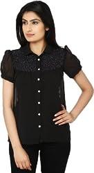 Eighteen 4ever Women's Shirt (KMA -184E -- 7292_Black _Small)