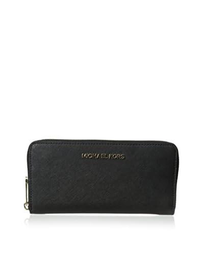 MICHAEL Michael Kors Women's Jet Set Travel Saffiano Continental Wallet, Black
