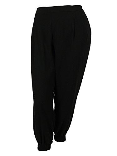 Calvin Klein Women's Elastic Waist Pants (3X, Black)
