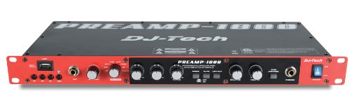 Djtech Preamp1800 8-Channel Preamplifier With 2-In/2-Out Usb Interface