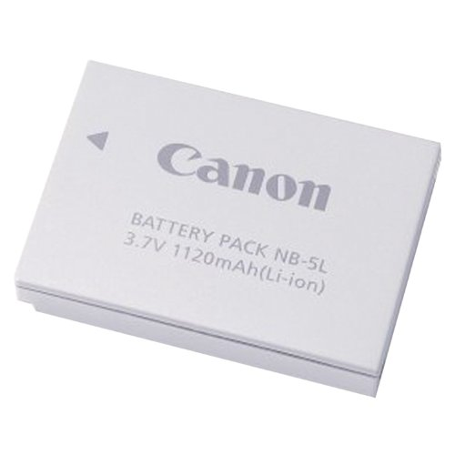 Canon NB-5L Battery Pack for Canon SD700IS, SD790IS, SD800IS, SD850IS, SD870IS, SD880IS, SD890IS, SD900, SD950IS, SD990IS, SD970IS & SX200IS Digital Cameras - Retail Packaging